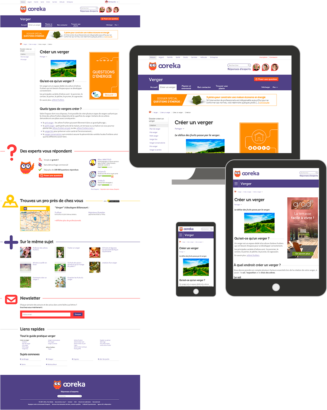 Site ComprendreChosir sur mobile, tablet et bureau.